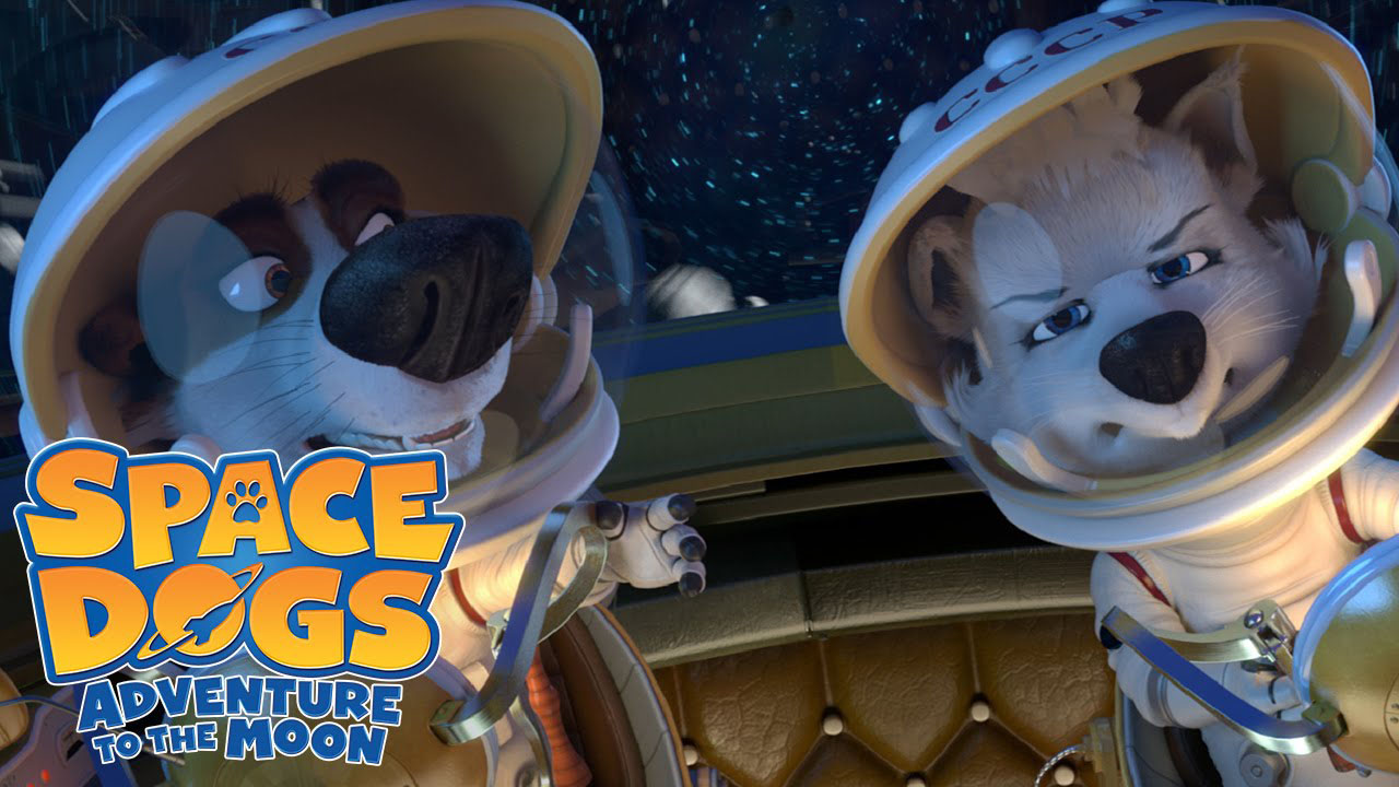 Poster of Space Dogs: Adventure to the Moon