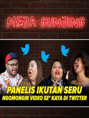 Poster of Meja Gunjing: Panelis Ikutan Seru Ngomongin Video Se* Kayak Di Twitter