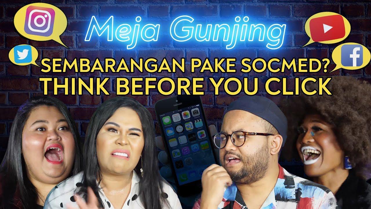 Poster of Meja Gunjing: Sembarangan Pake Socmed? Think Before You Click