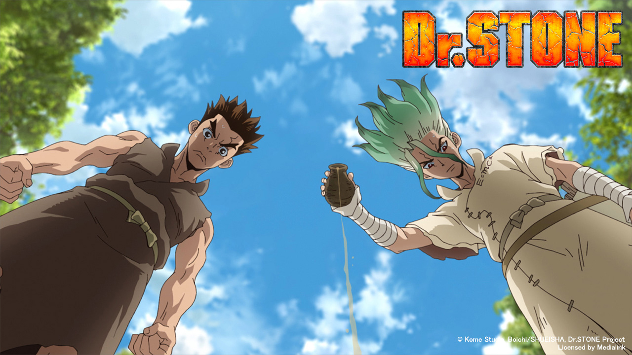 Poster of Dr. Stone Eps 12: Two Nations of the Stone World